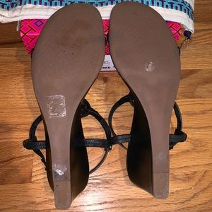 Tory Burch Shoes - Tory Burch Miller wedge sandal, black, size 9